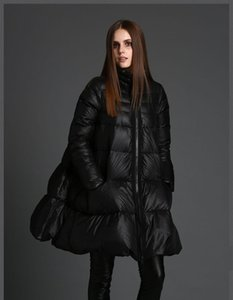 Hot Sale models New black high quality white duck down coat women's large size loose thick warm down jacket