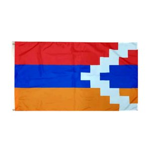 Artsakh Flag 90*150 cm Flying Hanging Polyester Country National Flags from Factory with Cheap Price, free shipping
