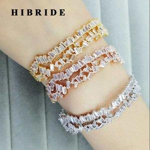 HIBRIDE linda más nueva en capas multi-diseño de la joyería Baguette BanglesBracelets Mujeres circonio cúbico ajustable B-81