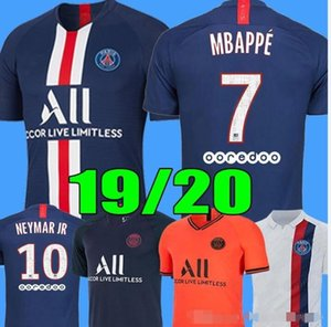 2019 2020 Maillots de Fußballhemd 2019 Mbappe ICARDI Marquinhos Männer + Kinder Assemblies maillot de foot cavani 4. vierte