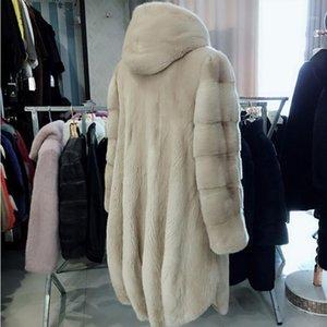 2018 new women coat long whole velvet outwear1