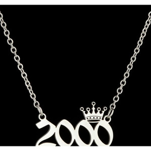Personalized Birth Year Number Necklaces Custom Crown Initial Necklace Pendants For Women Girls Birthda sqckaR dh_seller2010