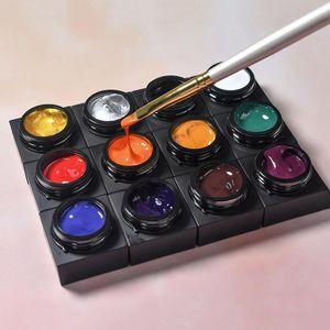 5ml Spinne Kleber Nagel-Kunst-Farben-Kleber Malerei Geschnitzte Chain Link Blumenzeichnung Strich Verschmieren Gradient Zeichnung Silk Spinne