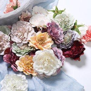 10 centimetri di simulazione Poney multicolore artificiale Peony testa di fiore per la festa di nozze della decorazione di DIY decorativo della corona di fiori