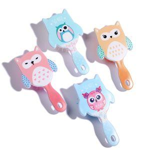 10 pcs Cartoon owl Animal Anti-static Hair Brush Sequins Massage Comb Shower Wet Detangle Hair Brush Salon Hair Styling Tool