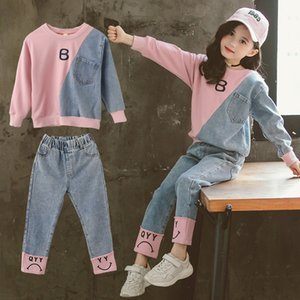 Children Clothing Set Hoodie Jeans Kids Tracksuit 2020 Spring Girls Costume Kids Sport Suits for Girls Clothes 6 8 10 12 Years LJ200915