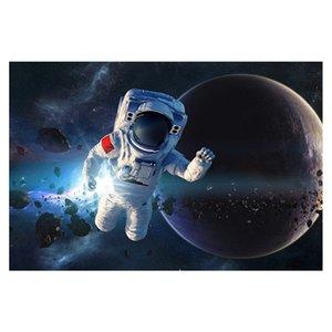 Hiinst 1000 Parça DIY Yapboz Eğlenceli Bulmacalar Uzay Astronot Desen Çocuklar Hediyeler Tatil Çocuk Yetişkin Yapboz Oyuncaklar için 75x50 cm Y200421