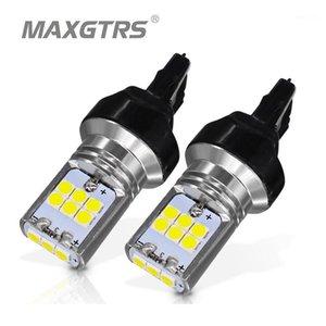2x T20 7440 w21w voiture queue LED lumière 3030 puce Frein automatique arrière-plan de retour de la lampe de retour du signal de tour de stationnement arrière DRL Strobe Flash Hyper1
