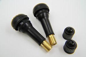 100PCS LOT TR413 Brass Car Valve valves Stem Rims Snap-In Tire Auto Tyre Tubeless Short Rubber Wheel Accessory