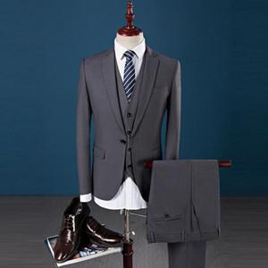 Men's Business Casual One Button Suit Costume Hommes Du Mariages Trois Pieces Wedding Dress