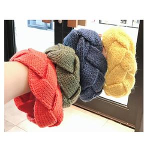 Moda Mujeres Twist Twinitting Woolen Head Diademas Tenedor de pelo Elástico Hairband Turban Headwraps Head Wrap Accesorios para el cabello Joyería