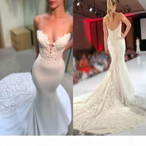 2020 African Plus Size Wedding Dresses Sweetheart Ruffle Mermaid Wedding Dress Backless Satin And Lace Bridal Gowns Dubai Arabic Vestidos
