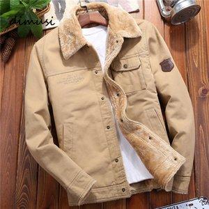 Dimusi Kış Erkek Bombacı Casual Adam Polar Yağ Sıcak Windjack Beyler Giyim Askeri Beyzbol Ceketler 5XL