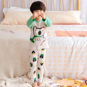 20 Juego de ropa interior de niñas, primavera y hogar infantil, pijamas de algodón, pijamas, tela de bebé, pantalones de otoño delgado