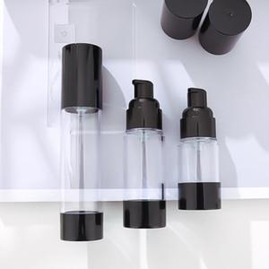оптовая горячая продажа новые 15 мл 30 мл 50 мл черных безвоздушная бутылка насоса опорожнить, 30 мл пластиковых бутылок многоразовых LX9386