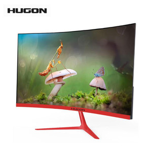 "HUGON Brand New 23.8"" LED LCD 1920×1080p Curved Screen Monitor PC 75Hz HD Gaming 24 27 Inch Computer VGA HDMI Interface"