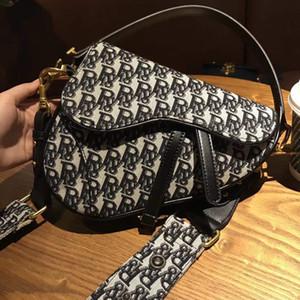 New Design Trendy Klassische gestickte Satteltasche aus Leder Damen Tasche Umhängetasche Schultertasche
