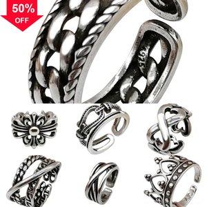 suOL9 Huilin Jewelry Huilin Nordic Double Cross Raven ring Cross Pendant Talisman infinity cross anchor Pendant Necklace Viking love