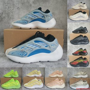 With Box Arzareth Alvah Azael Glow In Dark 700 V3 Sneakers Volt Kanye West Shoes Foam Runner Runner Mens Womens Ladies Trainers