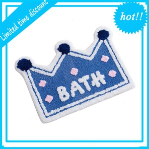 Top selling three color crown Shower mat bathroom t in 2020