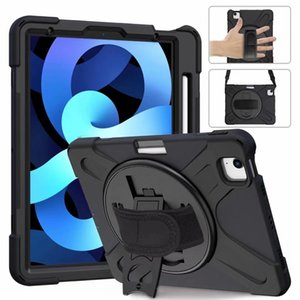 for iPad 10.9 air 4 10.2 9.7 2017 Mini 1 2 3 4 5 6 7 8 Pro 11 10.5 360 Rotating slicone Hybrid Shockproof Armor Holder pencil Shoulder strap
