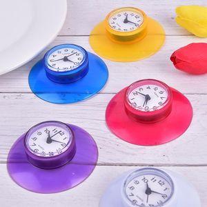 2020 new style Bathroom Kitchen Waterproof Sucker Clock Shower Booth Powerful Adhered Fashion home sucker clock