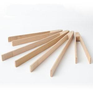 Деревянные зажимы хлеба хлеб щипцы бука деревянные десертные печенье клип торт щипцы многофункциональный кулинарный клип домашний инструмент для выпечки BWF2779