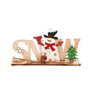 Ornamenti natalizi Merry Christmas Decor in legno per la casa 2021 Navidad Cristmas Decorations Regali Xmas Capodanno CCA3112