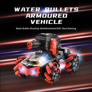 Watch control 2.4G RC water-absorbent stunt car R C water bullets armoured vehicle Multidirectional rc car TW2011065