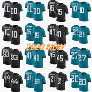 E58 Custom Jacksonville.Jaguar Football Jersey 15 Allen Robinson 21 C.J. Henderson 41 Josh Allen 10 Laviska Shenault JR 28 Fred Taylor