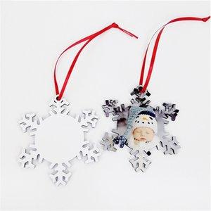 Süblimasyon Ahşap kar tanesi Noel Süsler DIY Blank Ahşap kar taneleri Düz Beyaz Çift Taraflı Damgalama Kart Noel ağacı pendents OOA9709