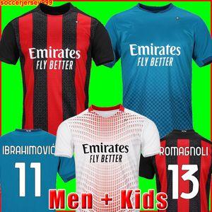 IBRAHIMOVIC Mailand 20 21 Fußballtrikot 2020 2021 PIATEK Fußballtrikots PAQUETA THEO SUSO REBIC Camisa de Futebol Maillot Männer + Kinder Kit 120. 120 Jahre
