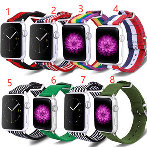 Suitable for apple watch band Rainbow band Strap iwatch bands 40mm 44mm series 6 Nylon Strap Stripes series 5 4 3 2 1 38mm 42mm