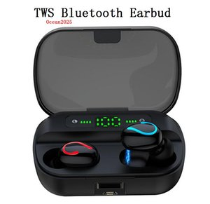 Mini TWS Bluetooth 5.0 Earphone Sport Waterproof Headsets LED Display Stereo Noise Canceling Cell Phone Earbud