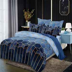 Cubierta de edredón geométrico de Claroom 240x220 Ropa de cama de ropa de cama Conjuntos de cama DH01 # C1018