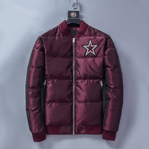 Gxxxxchy Mens Down Coat Fashion Letters on Back Thick Jackets Casual Boys Parkas with Stars Pattern 2020 Winter New 3 Colors