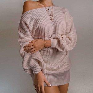 Günlük Kadınlar Seksi Elbise Sonbahar ve Kış Yün Blend Triko Elbise Yeni Moda Bayan Streetwear Elbise Giyim 4 RENK S-XL için