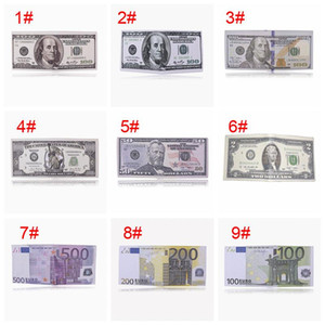 Creative Money Printing Wallet Zipper Foldable Short Wallet Storage Dollar Sterling Euro Ruble Pattern Compartment Coin Purse VT1595 T03