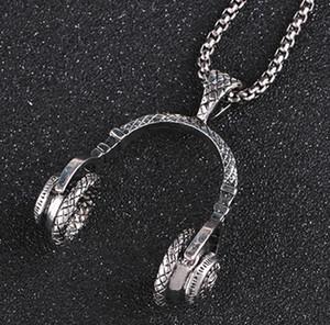 Музыка гарнитура длинное ожерелье Hip Женщины аксессуары Популярные Ожерелье Наушники Подвеска