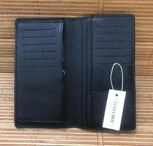 neue Markenmappe braun Reise Artdrucken Anzug Clip Art und Weise Mannmappen lange Handtaschen Geldbeutel Frauen-Einkaufstasche Kartenhalter mit Kastenstaubbeuteln