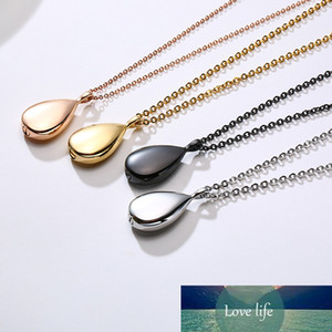 Urn Water Tear Drop Pendant Necklace Openable Stainless Steel Droplet Collar for Women Men Ash Jewelry