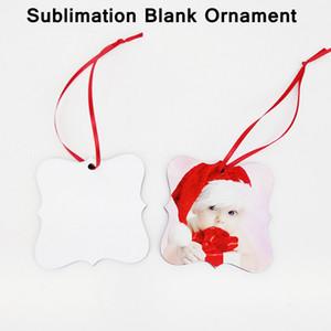 Сублимационные пустые украшения DIY подвески ручной работы настроить рождественские кулоны двухсторонние MDF творческие украшения YFA2704