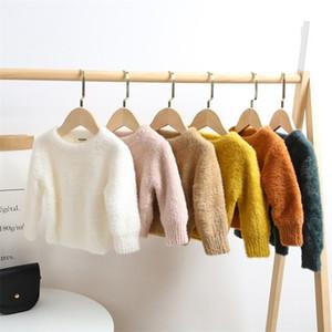 Baby Girls Imitation Mink Cashmere Sweater Winter Girls Clothes Pullovers Children Jumper Toddler Girl Warm Jacket Tops 201109