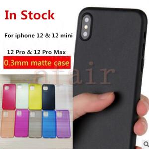 0.3mm Ultra Thin Тонкий матовый матовый PP телефон Прозрачный гибкий чехол крышка для IPhone 12 мини 11 Pro Max X XS XR 8 7 плюс IN Stock