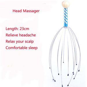 Alivie el masajeador de la cabeza del estrés Promueva la circulación sanguínea Relajación del peinado del cuero cabelludo terapéutico de la sangre Mantenga el estrés de alivio saludable Q WMTCQL