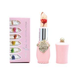 Moisturizer Long lasting Jelly Flower Lipstick Makeup Temperature Changed Colorful Lip Blam Pink Black Transparent Lipstick 120pcs