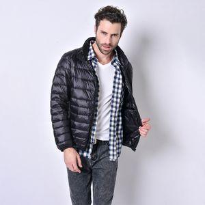Men Casual Dowm Jackets Fashion Solid Color Jacekts Mens Stand-up Collar Plus Size Coat Mens Autumn Winter Hot Sale Outerwear