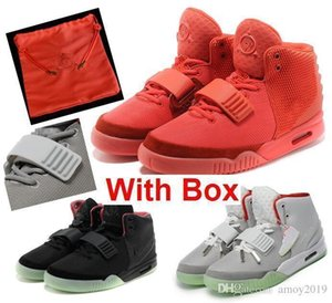 V2 350YezzyYezzys2019 Kanye West 2 Ii Sp Red October Sports Basketball Shoes With Packages With Dust Bag Mens Sneakers Glo am