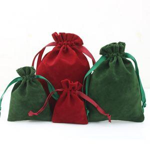 Vino Rosso velluto polvere Sacchetti prova con coulisse gioielli cosmetici Craft Products Imballaggio Sacchetti Retail Shop dare via Confezione regalo Bag