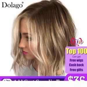 Base de soie Dentelle Front Human Hair Perruques Juifs Perruques Juifs Kosher Cheveux Vierge De Vierge Non transformé Women Dentelle Wig Dolago Cheveux